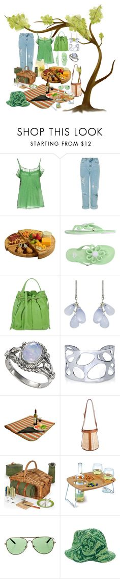 """""""Food and Fashion"""" by amy-brandstatter ❤ liked on Polyvore featuring Twin-Set, Picnic at Ascot, Mel by Melissa, Alberta Ferretti, Ten Thousand Things, BERRICLE, Hermès, Tory Burch and D&G"""