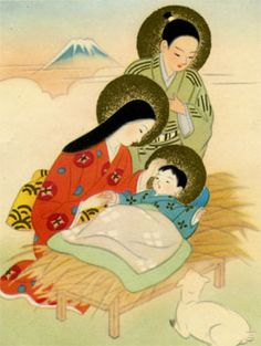 Japanese Madonna and Child / Catholic in Japan Religious Images, Religious Icons, Religious Art, Virgin Mary, Image Jesus, Religion Catolica, Blessed Mother Mary, Mary And Jesus, Holy Mary