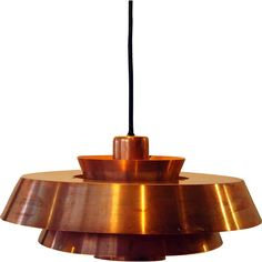 Danish JO HAMMERBORG for Fog & Morup Nova Copper Pendant Light @shoprubylux #EronJohnsonAntiques #20thCentury