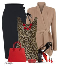 Leopard And Red by anna-campos on Polyvore featuring polyvore, fashion, style, Noisy May, Donna Karan, Vivienne Westwood, Victoria Beckham, Marni, Aris by Treska, Style & Co., Narciso Rodriguez and clothing