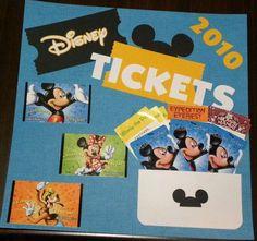 Disney Tickets Layout, cricut