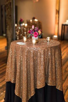 Great Gatsby Wedding Table Cloth Custom Size Round And Rectangle Add Sparkle With Sequins Wedding Cake Table Idea Masquerade Birthday Party Nautical Wedding Decorations Outdoor… Outdoor Wedding Decorations, Wedding Centerpieces, Wedding Table, Wedding Cakes, Wedding Reception, Cake Tables For Weddings, Masquerade Wedding Decorations, New Years Eve Party Ideas Decorations, Great Gatsby Party Decorations