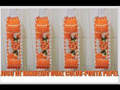 JOGO DE BANHEIRO DUAL- COLOR PORTA PAPEL/DIANE GONÇALVES - YouTube Crochet Designs, Crochet Patterns, Wc Set, Cross Stitch Tutorial, Crochet Carpet, Bathroom Rug Sets, Crochet Mandala, Crochet Diagram, Crochet Videos