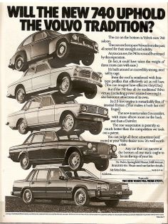 Volvo 740 Car Advert
