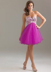 Cheap Purple Lace Short Strapless Up Short Cocktail Dresses By Night Moves 6410