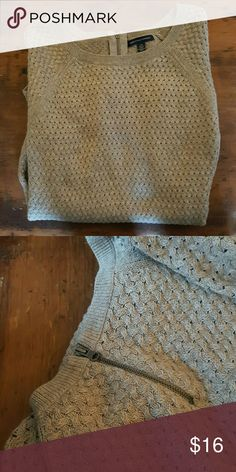 American Eagle Sweater, Zipper, Large Zip back sweater American Eagle Outfitters Sweaters Crew & Scoop Necks
