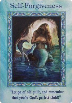 I forgive myself.Oracle Card Self-Forgiveness Everyone Makes Mistakes, Angel Prayers, Angel Guidance, Doreen Virtue, Angel Cards, Saints, Oracle Cards, Spiritual Life, Card Reading