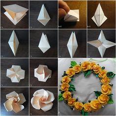 Origami Twisty Rose from www.origami- DIY Origami Twisty Rose from www.origami- DIY Origami Twisty Rose from www.origami- Source linkDIY Origami Twisty Rose from www.origami- DIY Origami Twisty Rose from www. Origami Design, Rosa Origami, Instruções Origami, Origami Paper Folding, Origami Ball, Paper Crafts Origami, Useful Origami, Origami Ideas, Origami Bookmark