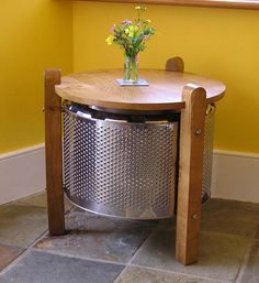 Washing machine drum coffee table