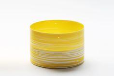 "Inhwa Lee ""Shadowed Color - Cylinder"" Porcelain, Pigment, Marbling, Wheel throwing, 1280℃ Oxidation Firing, Polishing"