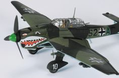 Corgi - 1:72 The Aviation Archive    Junkers Ju87B-1 Stuka, Major Alfons Orthofer, StG77, Stab II, Breslau, Germany, 1939    Ready made diecast model, scale 1:72, wingspan: 188mm.    Landing gear can be displayed in the down or up positions. Includes display stand.    Limited Edition of 1400 !!!    This limited edition model from Corgi is part of the highly collectable Aviation Archive range of die-cast model aircrafts.
