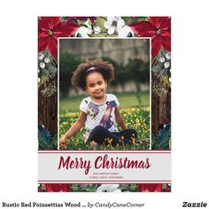 Rustic Red Poinsettias Wood Merry Christmas Photo Postcard #ZAZZLEMADE Merry Christmas Photos, Christmas Photo Cards, Holiday Photos, Christmas Greetings, Christmas Holidays, Christmas Postcards, Xmas, Personalised Christmas Cards, Holiday Greeting Cards