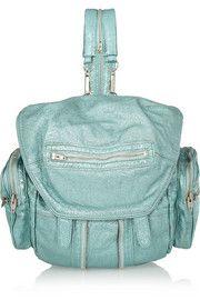 Alexander WangMarti metallic textured-leather backpack