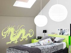 Asian Dragon  Vinyl Wall Decal by Wall Jems on Etsy, $13.99
