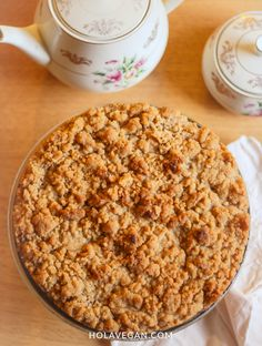 Crumble de manzana - Hola Vegan I Foods, Cereal, Veggies, Vegetarian, Meals, Breakfast, Recipes, Cupcakes, Healthy Apple Crumble