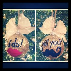 Hand painted ornaments by Erica Brett Lackey