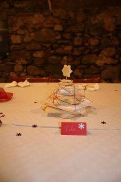 Decoración de mesa de Navidad.