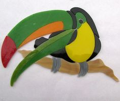 Toucan stained glass precut mosaic art kit. Many original designs selling on ebay.