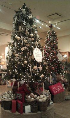 Christmas trees at Pottery Barn