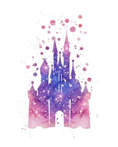 Disneys Cinderella Castle  Art Print