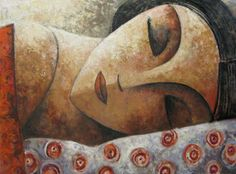 untitled picture of sleeping woman by Didier Laurenco (b. 1968), Spanish (artburgac)A