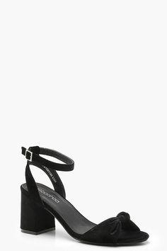 3a1bf13272c53 Knot Front Velvet Block Heels