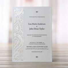 1bd6867dcfed81bd64696b87e8113b0e laser cut wedding invitations lasercut laser cut wedding invitations, elegant wedding invitations,All White Wedding Invitations