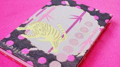 ポップなデザインが可愛い御朱印帳、GOSHUINノート。テキスタイルプロダクトブランド「kichijitsu」の商品です。松、竹、梅柄。