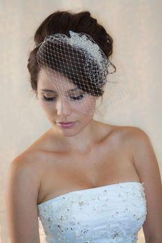 wedding veil 2017 crystal beading bridal veil birdcage veil veu de noiva accessoire cheveux mariage wedding hair accessories