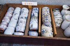 Kyoto, Japan. Souvenir Shopping Snapshot: Browsing Kiyomizu pottery - Souvenir Finder
