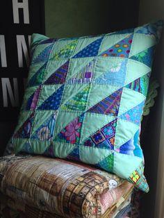 October cushion 2014 Aqua and Fasset