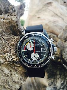 Vintage Sicura Breitling Chrono Chronograph Panda Dial 17 Jewels Rare Wristwatch | eBay