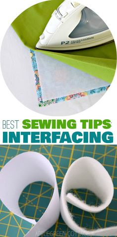 A beginner sewing guide to interfacing: beginner sewing tips by AppleGreen Cottage #sewingtips #sewing #diy #crafts #beginnertutorials #howto