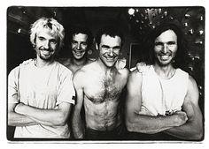 Da sx a dx: Ben Moon, Gerhard Hörhager, Jerry Moffatt, Stefan Glowacz. Foto: Gerd Heidorn