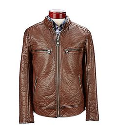 f30c2a94b5a Andrew Marc Gramercy Faux-Leather Motorcycle Jacket