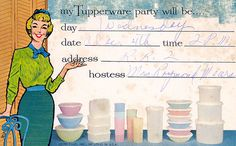 SO WHEN IS YOUR GO PARTY!!??    I NEED YOU ON MY TEAM!!   http://my2.tupperware.com/tup-html/T/tupperchar-welcome.html Tupperware Party Postcard by Neato Coolville, via Flickr