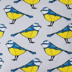 Hey, I found this really awesome Etsy listing at https://www.etsy.com/listing/267051448/blue-tit-fabric-upholstery-fabric