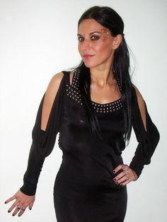 Cristina Scabbia, Metal Girl, Heavy Metal, Black Metal, Female Singers, Black Hair, Cold Shoulder Dress, Beautiful Women, Lady