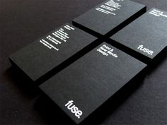 35+ Awesome Black Business Cards | Unique Business Cards