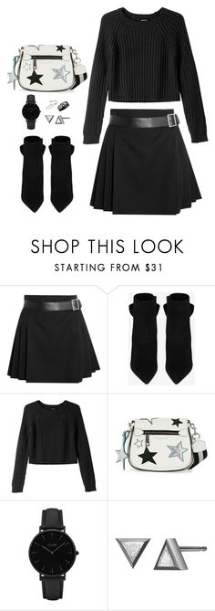 """""""Night"""" by fatyespinosa1 on Polyvore featuring moda, Alexander McQueen, Yves Saint Laurent, Monki, Marc Jacobs, CLUSE y Chanel"""