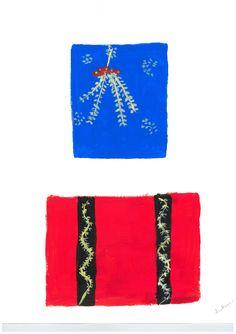 Title: Aztec Colours painting Artist / Scheme: Ann Morgan / Blackham House Medium: Acrylic