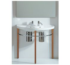 China Series Large U-Shaped Wall Mount Double Basin with Overflows
