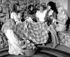 Minnie Pearl and the girls quilting bee