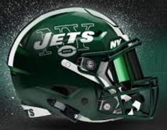Football Helmet Design, College Football Teams, Football Helmets, High School Cheerleading, Jet Fan, Helmet Logo, Professional Football, New York Jets, American Football