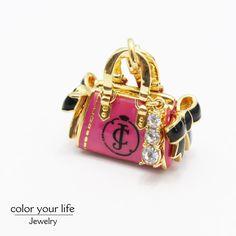 juicy enamel glaze craft inlay the Czech crystal drill fashion luggage pendant ESC019332