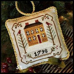 Old Colonial, #1 of 2015 The Sampler Tree Ornament Series from Little House Needleworks -- click to see more