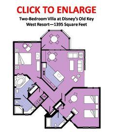 Plenty of room - Old Key West Two Bedroom Villa Floor Plan Layout