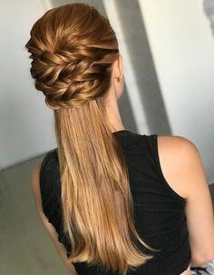 39 Cute French Braid Hairstyles Ideas You Must Try - Schöne Frisuren Single Braids Hairstyles, French Braid Hairstyles, Loose Hairstyles, Wedding Hairstyles, Pretty Hairstyles, French Braids, Everyday Hairstyles, Ponytail Hairstyles, Straight Hairstyles