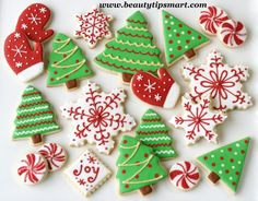christmas iced cookie bell tree star snowman - Google Search