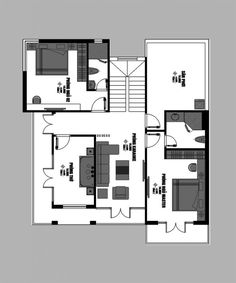 Luxurious two-storey modern villa - Pinoy House Plans Living Room Plan, Big Living Rooms, Living Room Designs, Architecture Magazines, Amazing Architecture, Online Architecture, Double Storey House, 2 Storey House Design, Small Villa